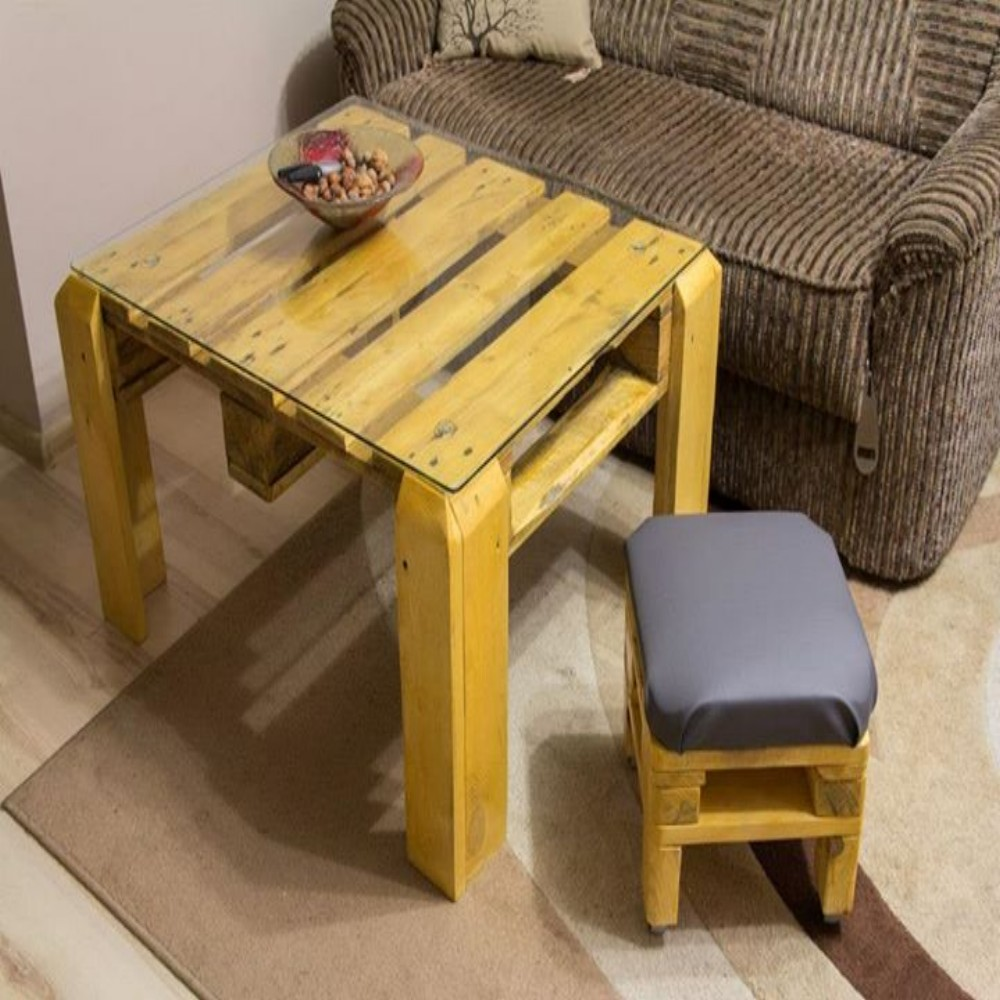 Beautiful Pallet Table And Stool Ideas Recycled