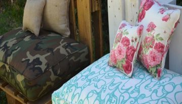 Outdoor Sofa Made with Pallets