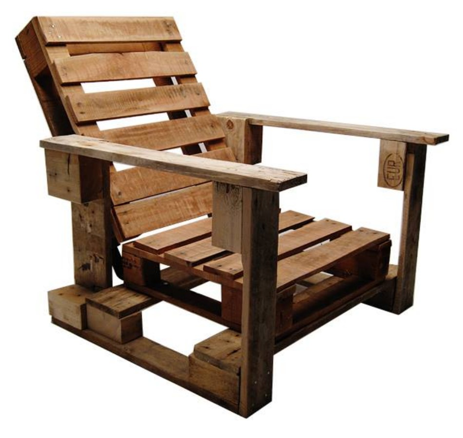 Pallet chairs ideas and designs pallet ideas recycled for Pallet armchair