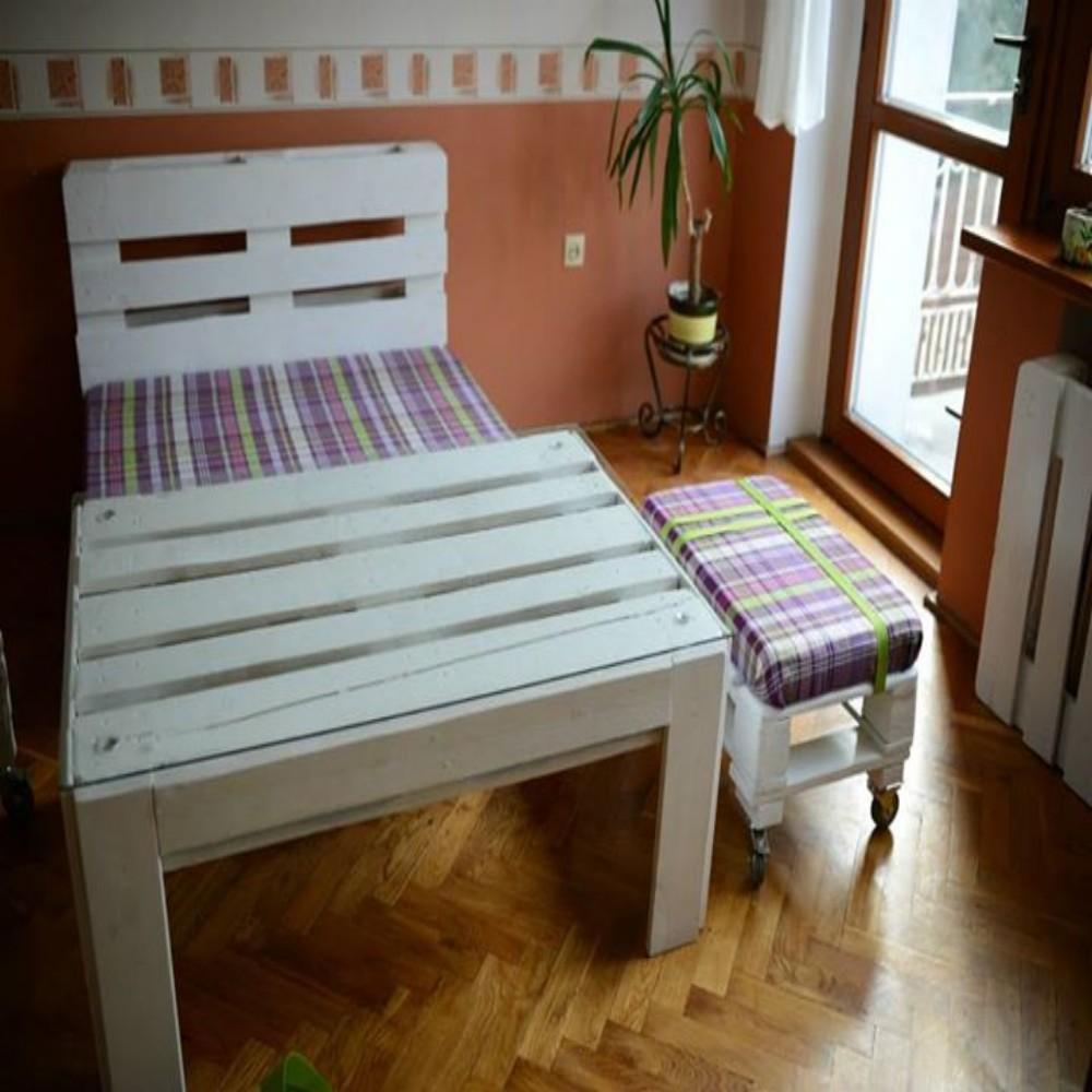 Unique Chairs For Living Room: Unique Pallets Furniture Set