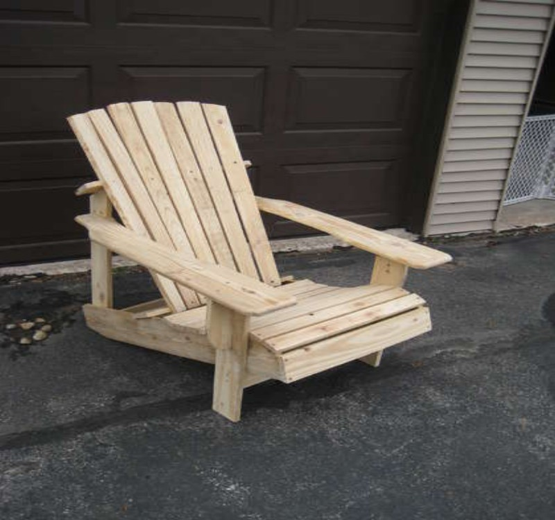 how to make a pallet garden chair
