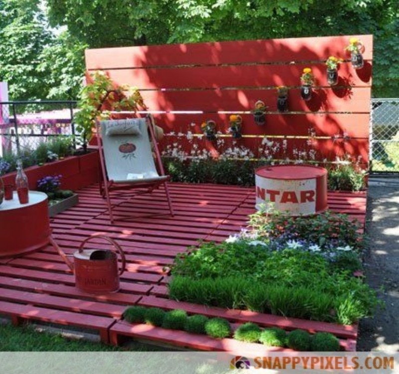 Garden furniture made with pallets pallet ideas recycled upcycled pallets furniture projects - Garden ideas with pallets ...