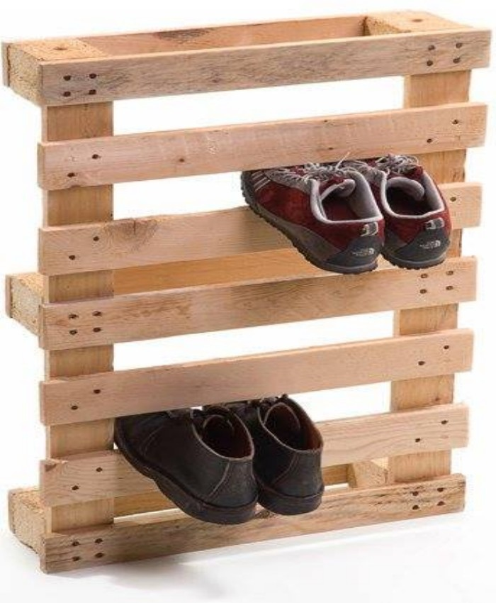 design a stylish shoe rack with pallet wood pallet ideas