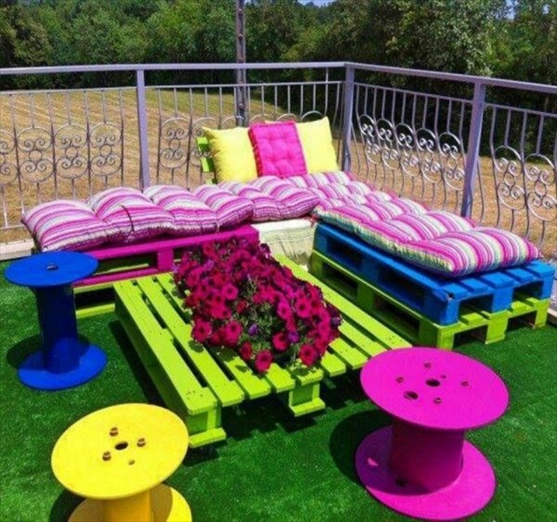 pallet patio furniture garden from pallets t