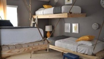 Durable Loft Beds Made of Pallet