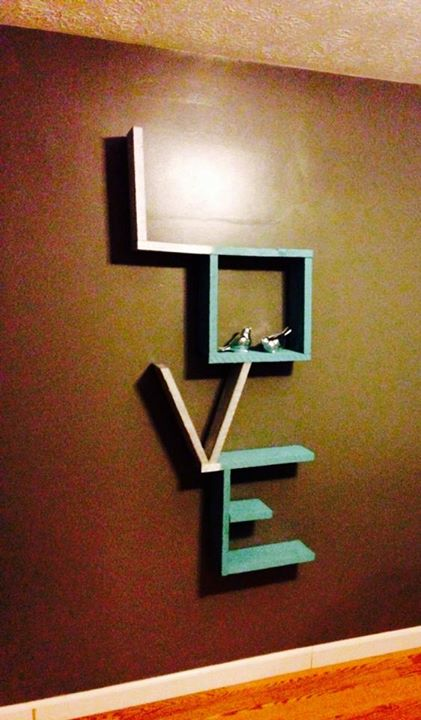 Love Shelf From Wood Pallets Pallet Ideas Recycled