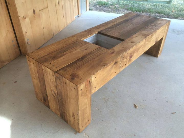 Admirable Pallets Bench With Succulent Planter Space Pallet Ideas Caraccident5 Cool Chair Designs And Ideas Caraccident5Info