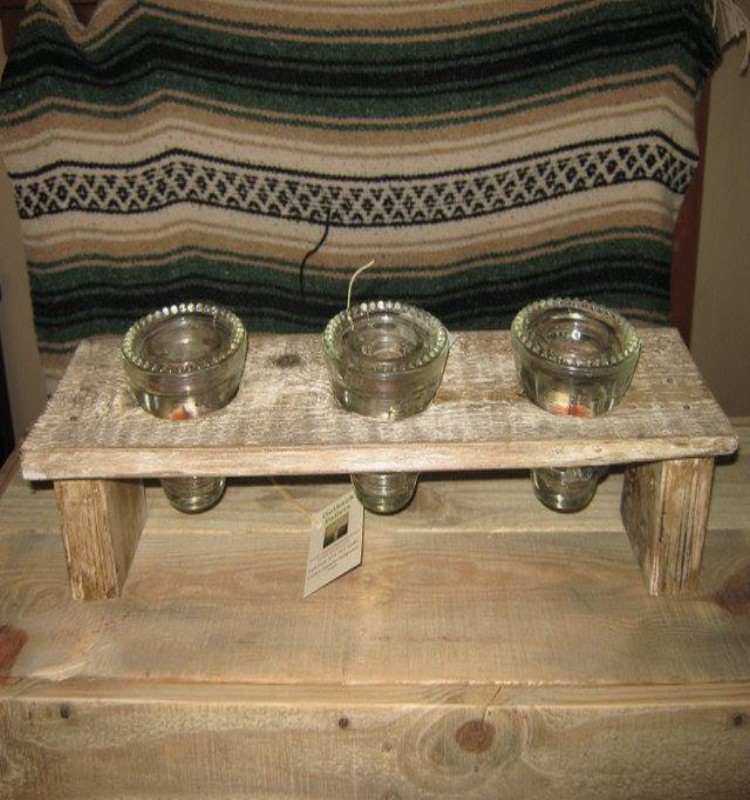 Pallets Candle Holders Pallet Ideas
