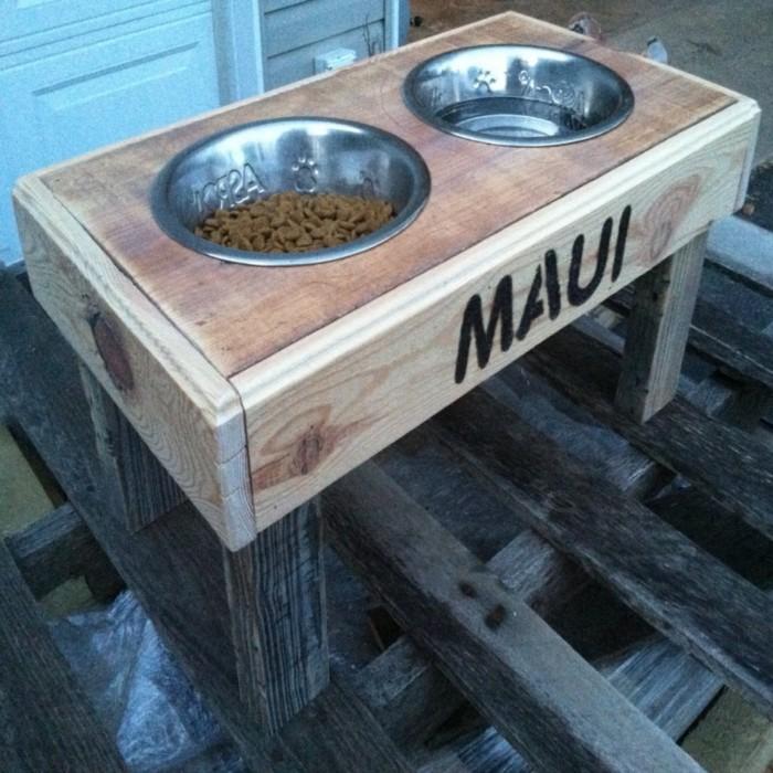 Pallets Made Dog Bowls Pallet Ideas