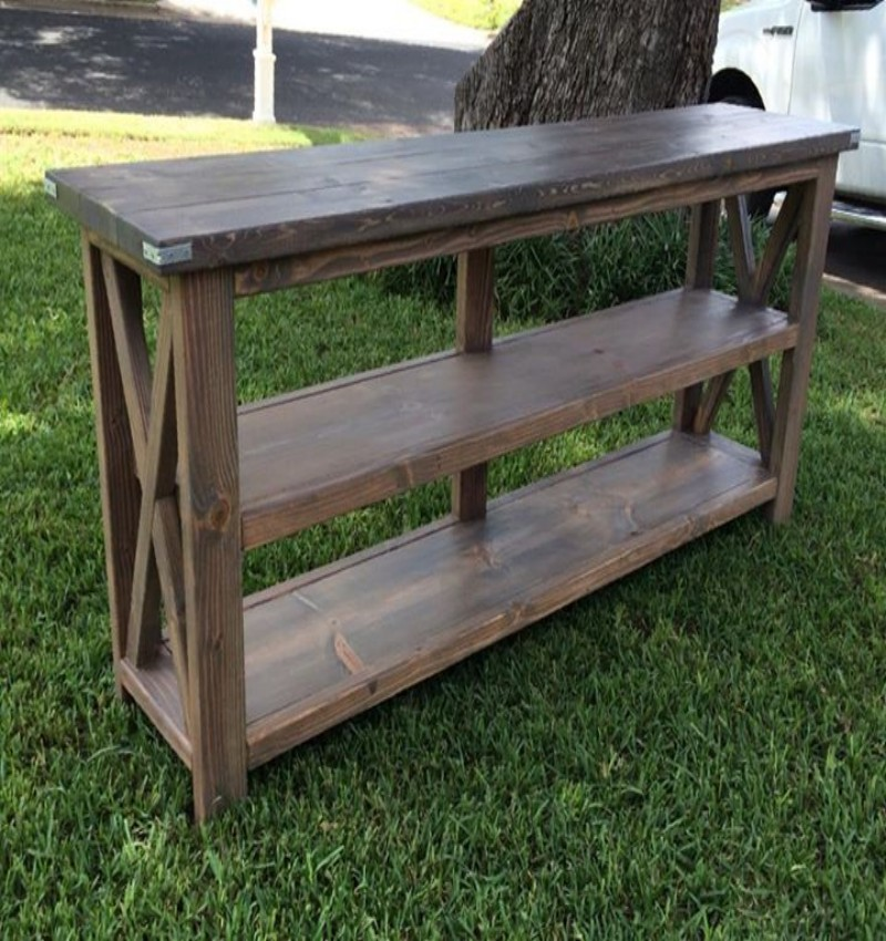 Pallets Farmhouse Style Console Pallet Ideas Recycled