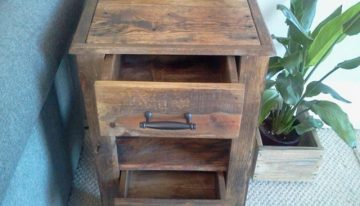Pallets Made Side Table with Drawers