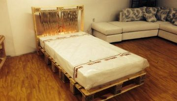 Nice Pallets Bed Creation