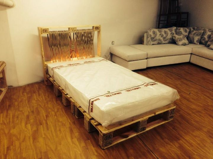 Nice Pallets Bed Creation Pallet Ideas