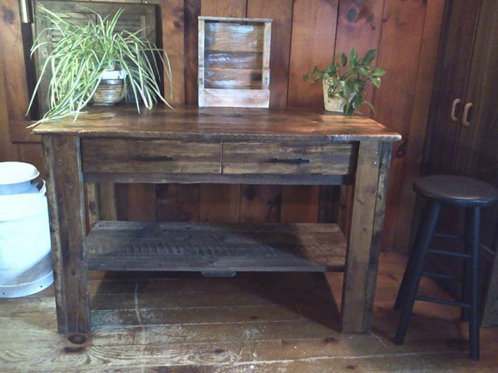 Foyer Table From Pallets : Recycled pallets entryway table pallet ideas