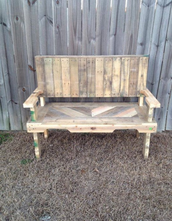 Pallets Made Garden Chair Bench : Pallet Ideas: Recycled / Upcycled Pallets Furniture Projects.