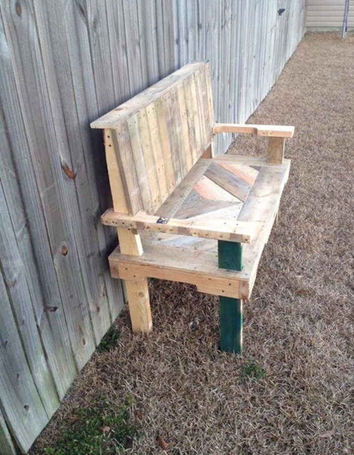 Pallets Made Chair Bench Pallet Ideas