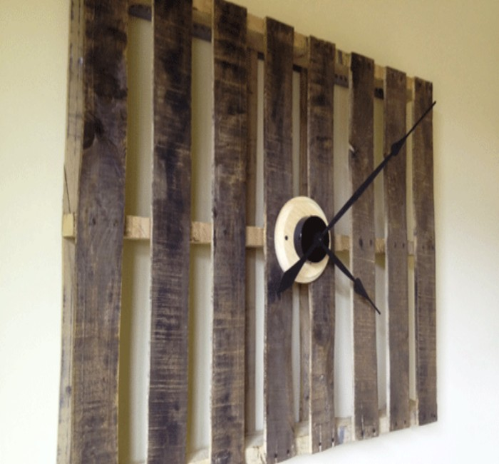 Pallets Created Clock Design