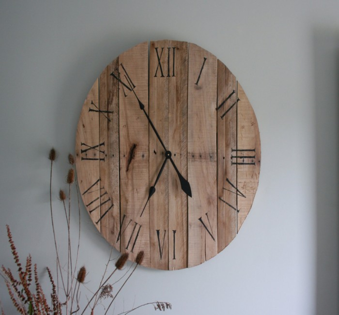 Pallets Created Clock Ideas