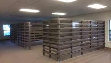 Wood Pallets Made Cubicles