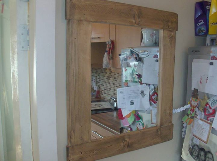 Pallet Mirrors In Vintage / Cottage Chunky Style | Pallet ...