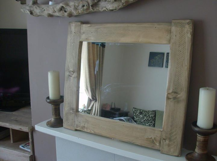 Pallet Mirrors In Vintage / Cottage Chunky Style – Pallets Recycle ...