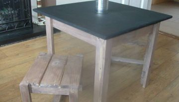 Pallets Upcycled Table and Stool