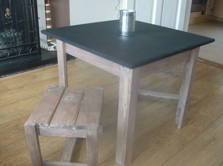 Pallets Upcycled Table And Stool Pallet Ideas