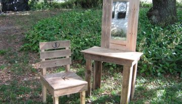 Pallets Vanity And Chair Rustic Decor