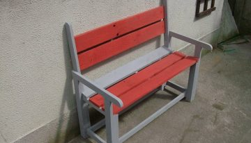 Pallets Kids Colored Bench