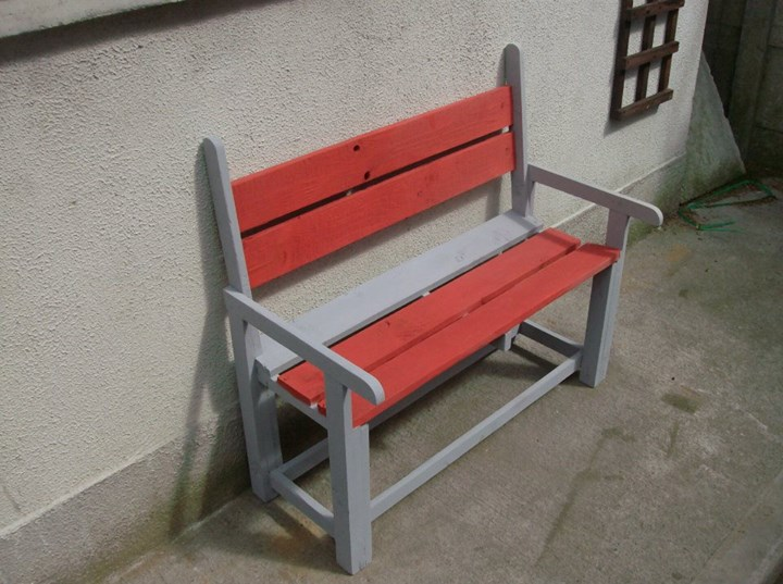 Kids Coloured Bench