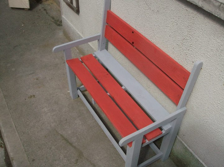 Kids Coloured Benches