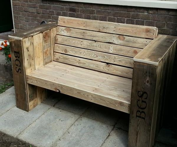 Cute Patio Benches with Wood Pallets Pallet Ideas