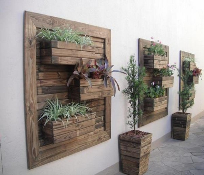 Pallets Made Wood Wall Planter Ideas | Pallet Ideas