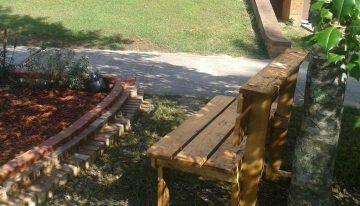 Pallets Memorial Benches for Sunnyside Elementary