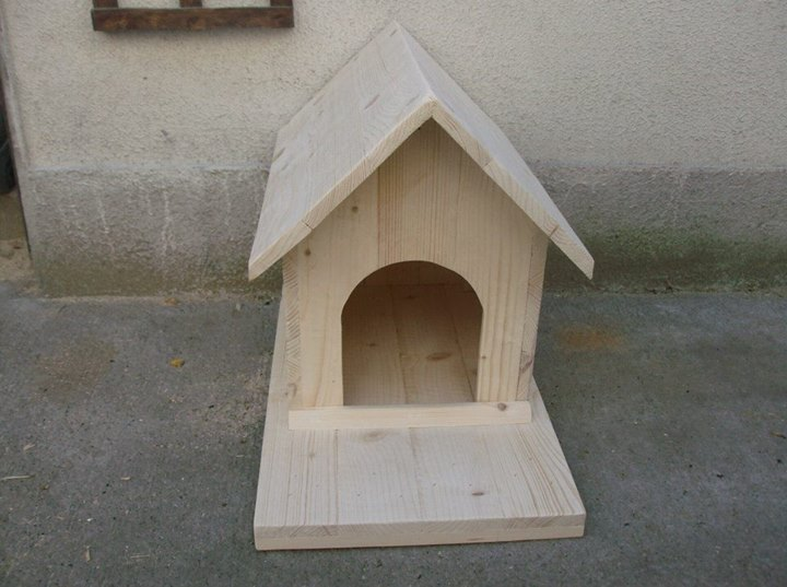 Pallets Wood Created Dog Cat Houses Pallet Ideas