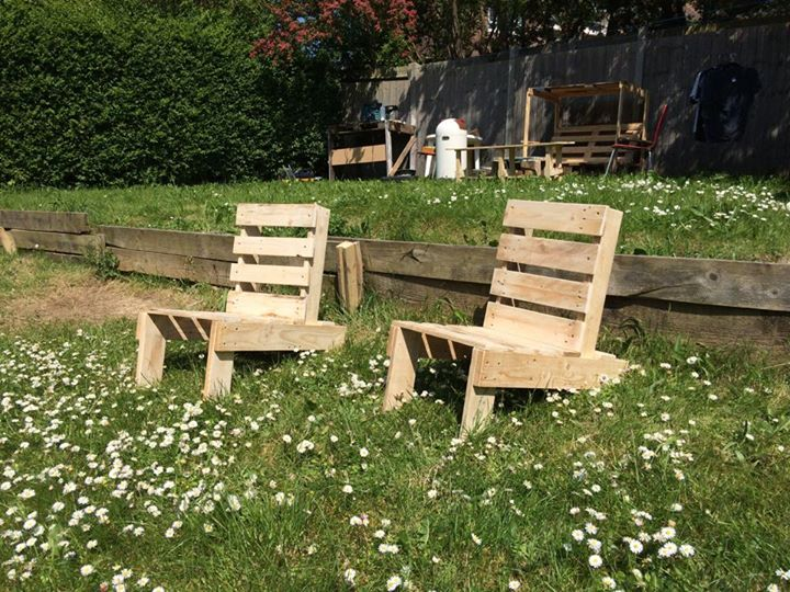 Pallets Made Folding Chairs Pallet Ideas