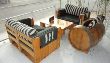 Pallets Made Furniture at Beech Bars