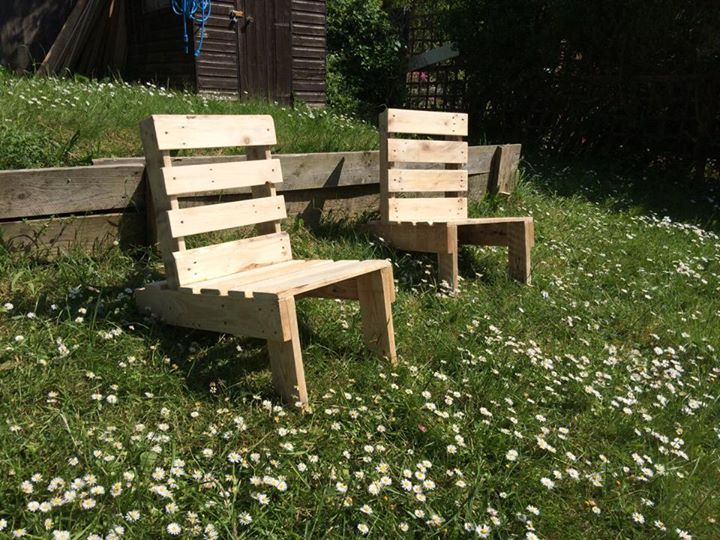 Pallets Made Folding Chairs | Pallet Ideas: Recycled / Upcycled ...