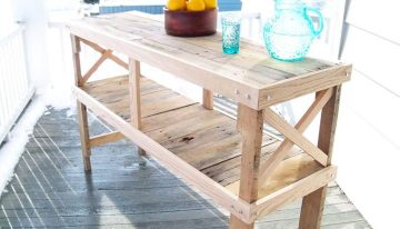 Pallets Rustic Desk Table