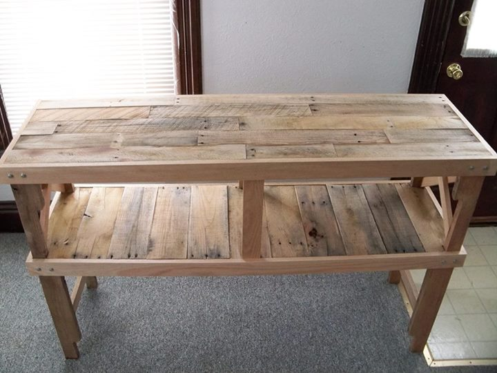 Pallets Rustic Desk Table Pallet Ideas
