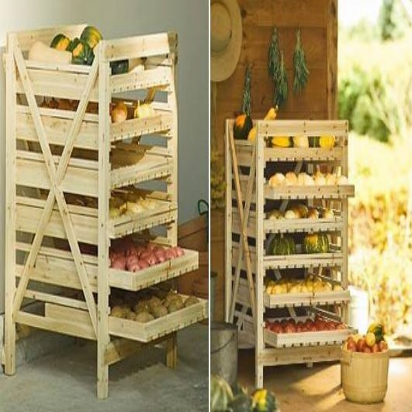 Pallets Vegetables Fruit Racks