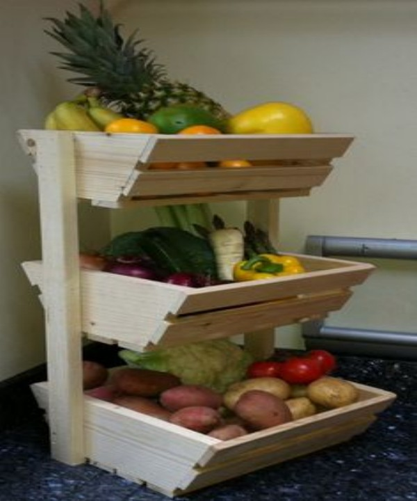 Pallets Vegetables Rack Ideas