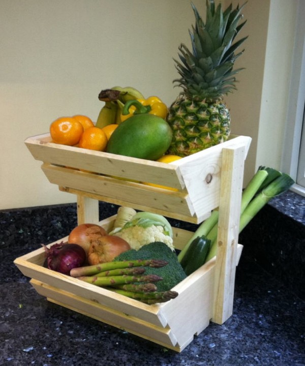 Pallets Vegetables Rack Storage