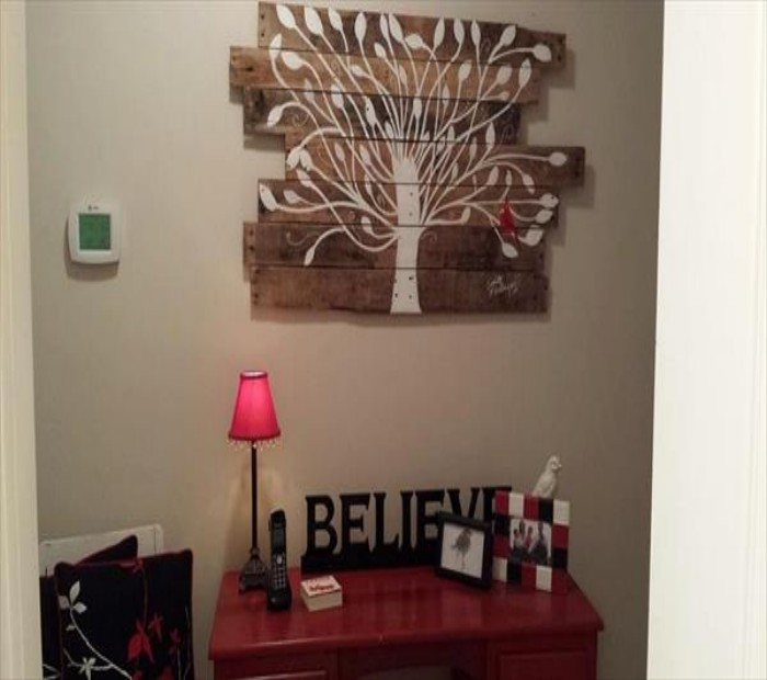 Pallets wall art craft ideas pallet ideas recycled upcycled pallets furniture projects - Craft ideas for wall art ...
