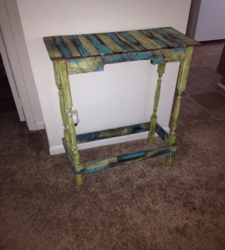Pallets Colored Benches And Tables Pallet Ideas