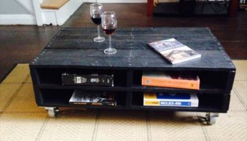 Wooden Pallet Coffee Tables On Wheels