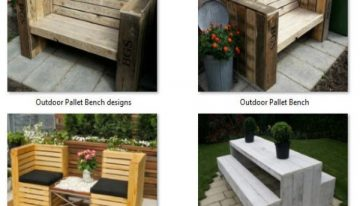 Cute Patio Benches with Wood Pallets