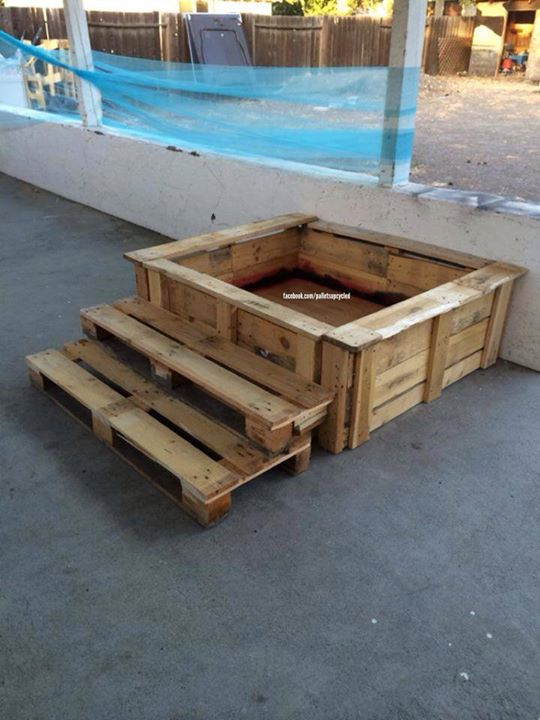Fabulous Pallets Made Sandbox For The Kids Pallet Ideas