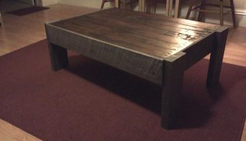 DIY Recycled Pallets Coffee Table Project