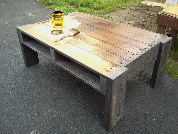 diy recycled pallets coffee table project pallet ideas. Black Bedroom Furniture Sets. Home Design Ideas